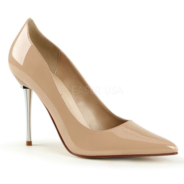 Stiletto Pumps mit Metallabsatz in nude Lack APPEAL-20